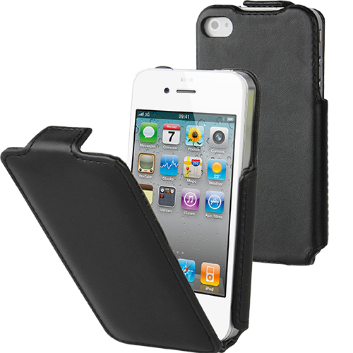 Husa Flip Slim Negru APPLE iPhone 4s, iPhone SE