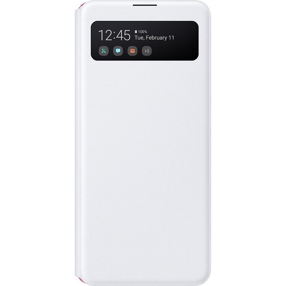Husa S-View Wallet Alb SAMSUNG Galaxy A41