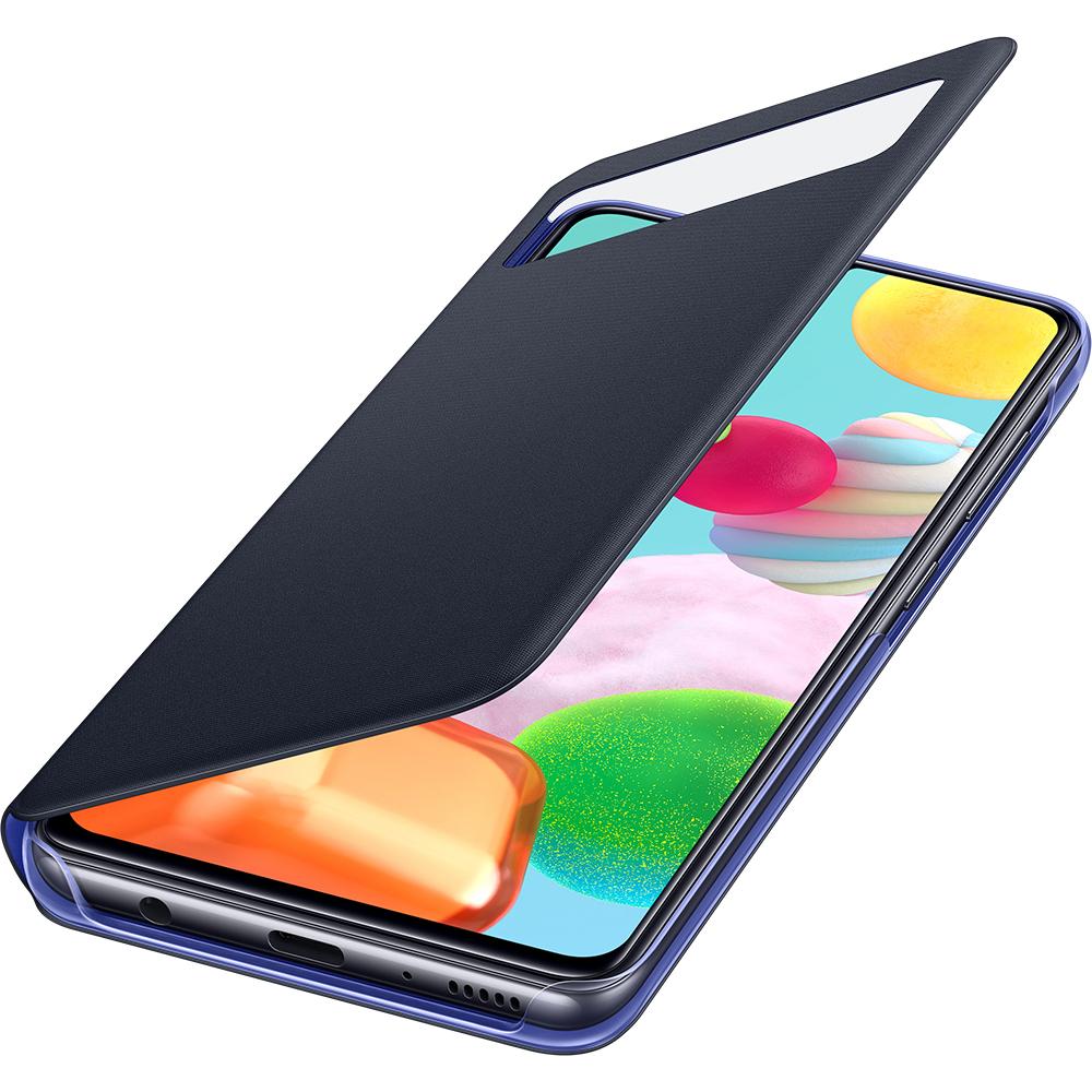 Husa S-View Wallet Negru SAMSUNG Galaxy A41