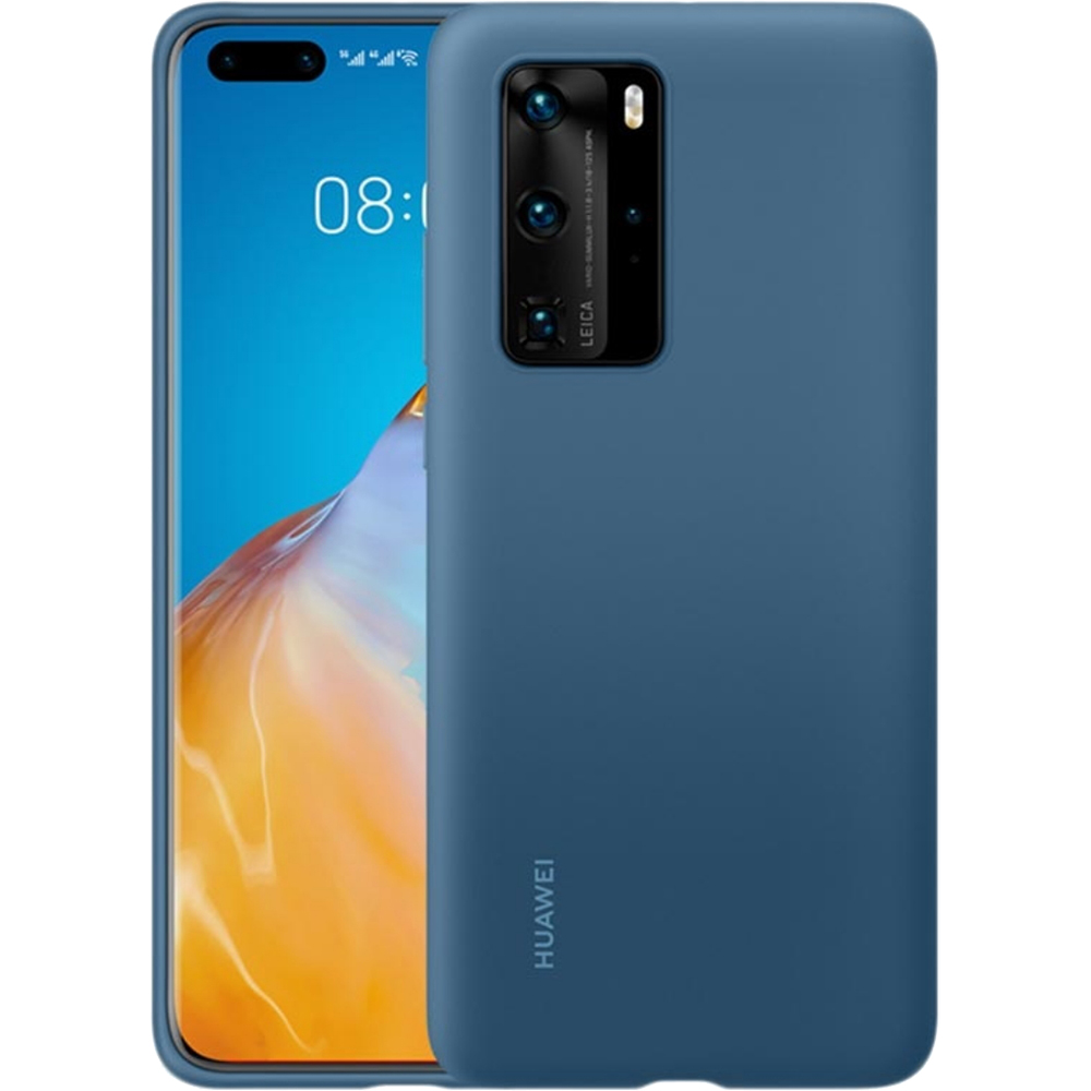 Husa Silicon Ink Albastru HUAWEI P40 Pro