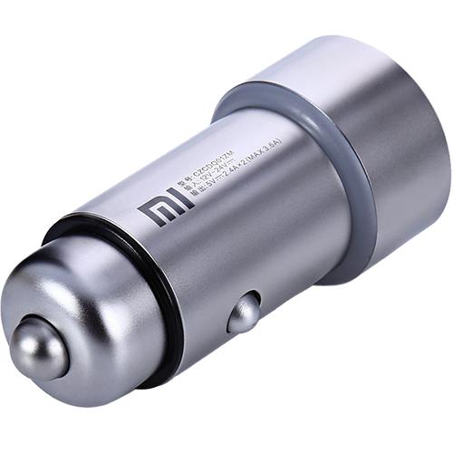 Incarcator Auto Mi Car Cu Doua Porturi USB Argintiu