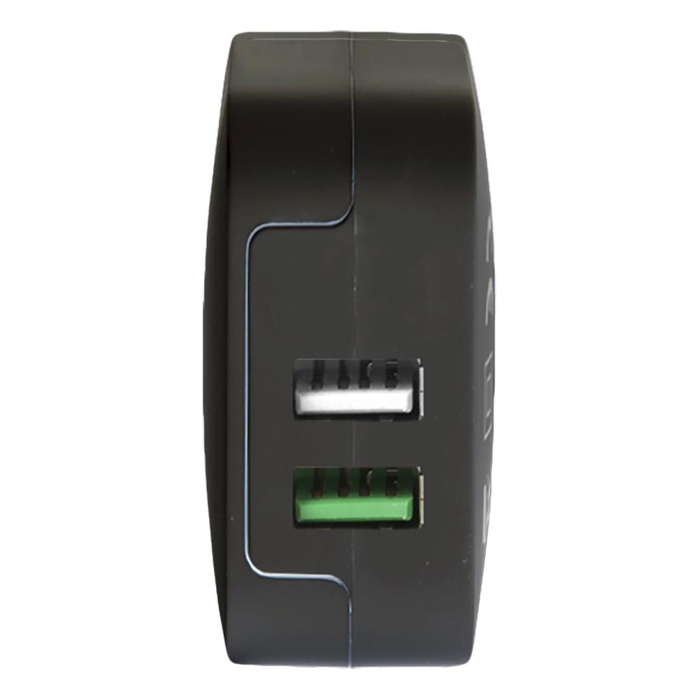 Incarcator Priza Cu Incarcare Rapida TurboCharge Doua Porturi USB Negru
