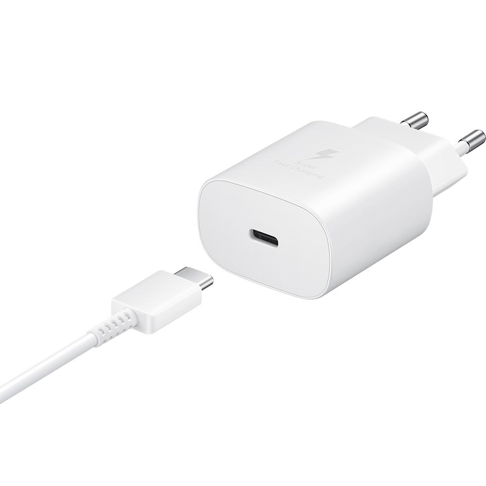 Incarcator Priza USB Type-C cu incarcare rapida, 25 W Alb