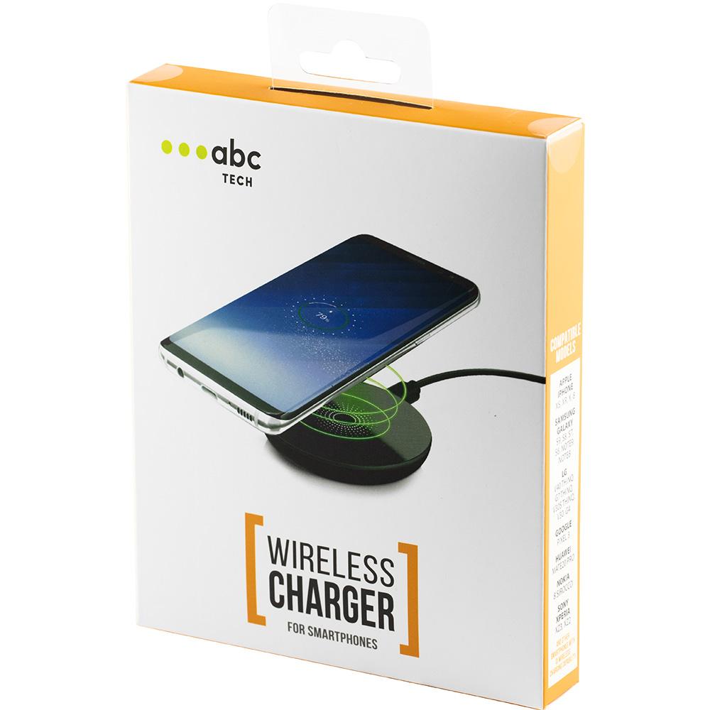 Incarcator retea Wireless,  cu viteza/putere incarcare 5W, pentru orice smartphone cu incarcare wireless,culoare Negru