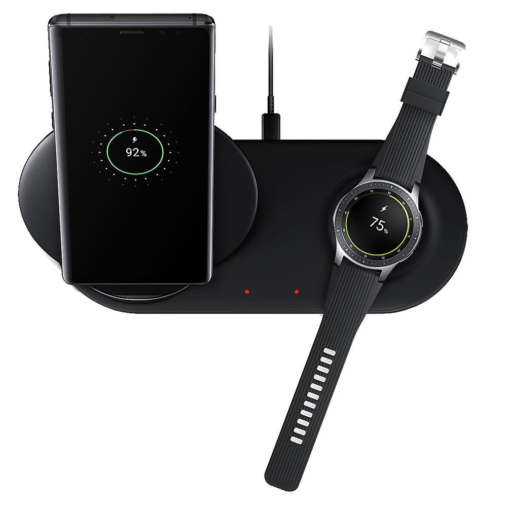 Incarcator Wireless Duo Cu Incarcare Rapida  Negru