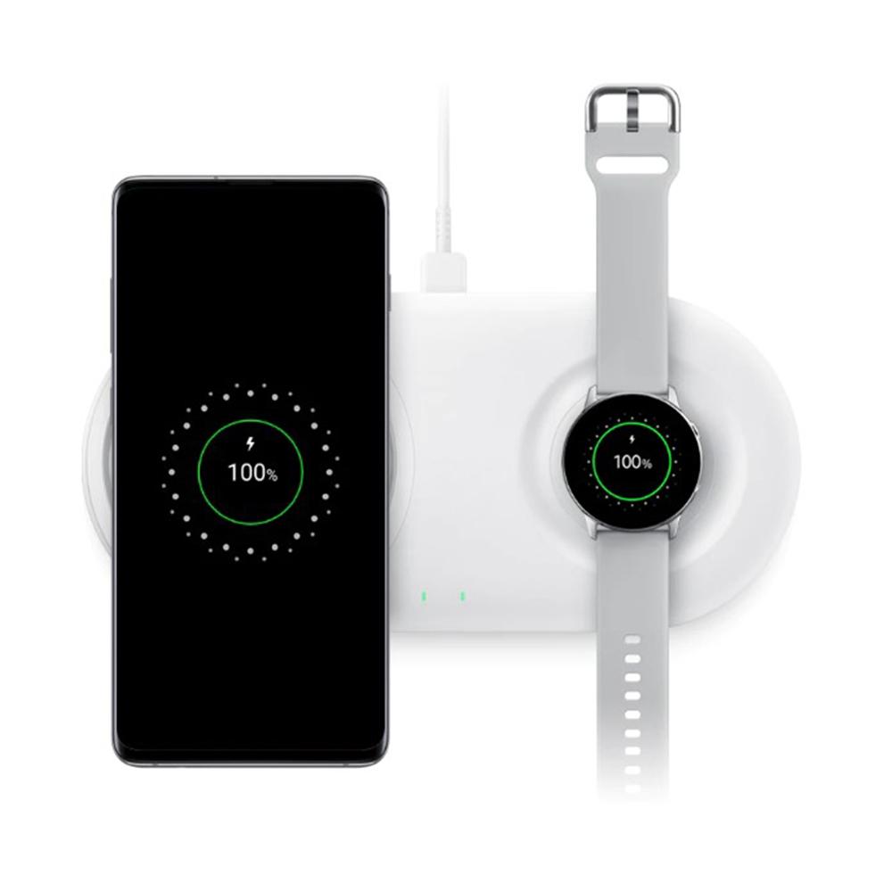 Incarcator Wireless Duo Pad Fast Charge  Negru