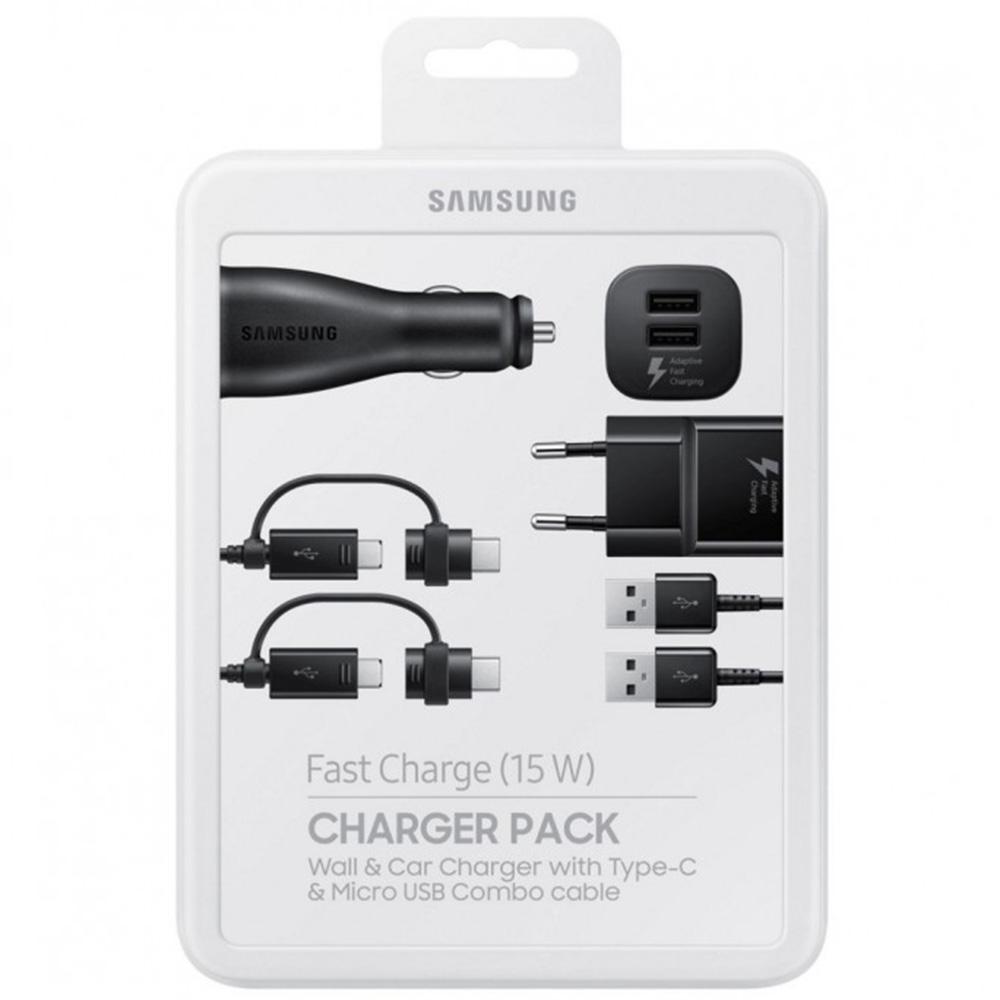 Kit Combo Incarcare Retea + Auto + Cablu Micro USB