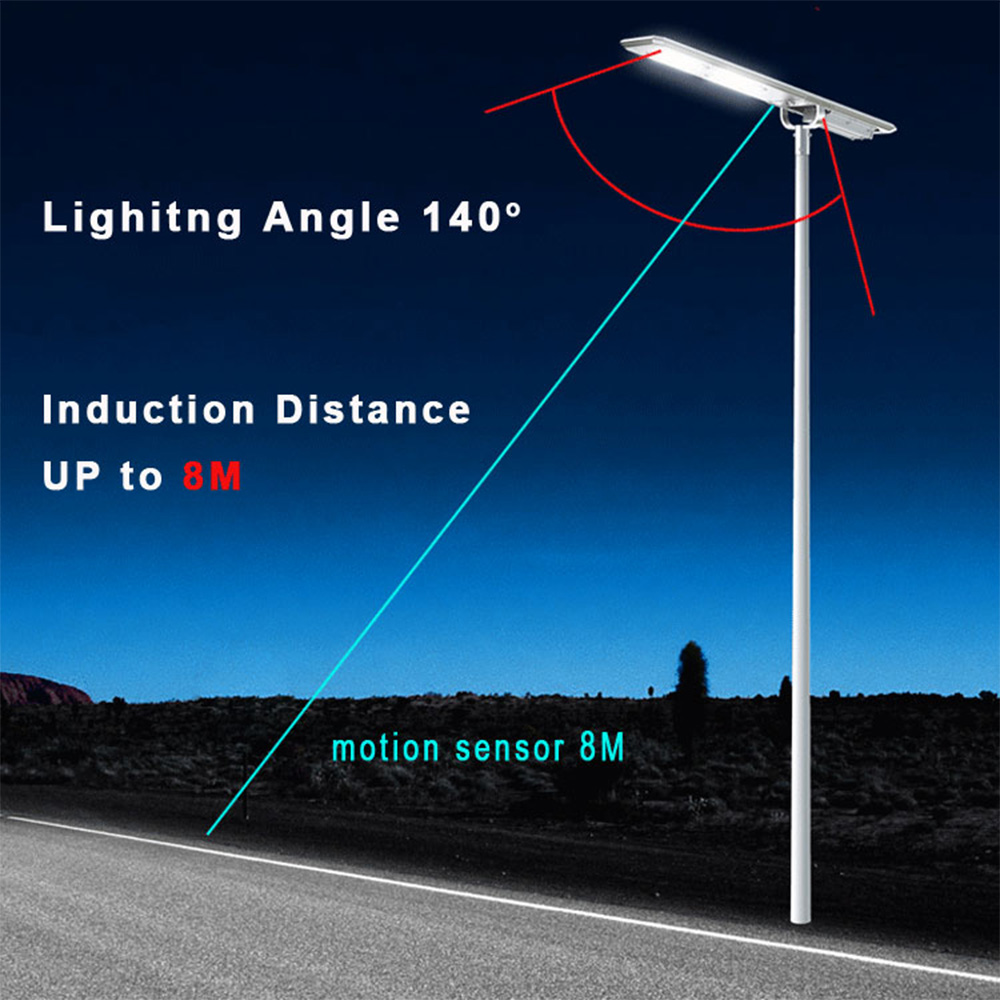 Lampa Stradala Cu Incarcare Solara 100W