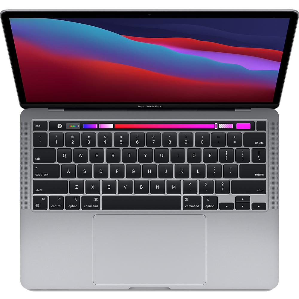 Laptop Macbook Pro 13'' 2020 M1, MYD82, 256GB SSD, 8GB RAM, CPU 8-core, DisplayPort, Thunderbolt 3, Tastatura layout INT, Space Gray (Gri)