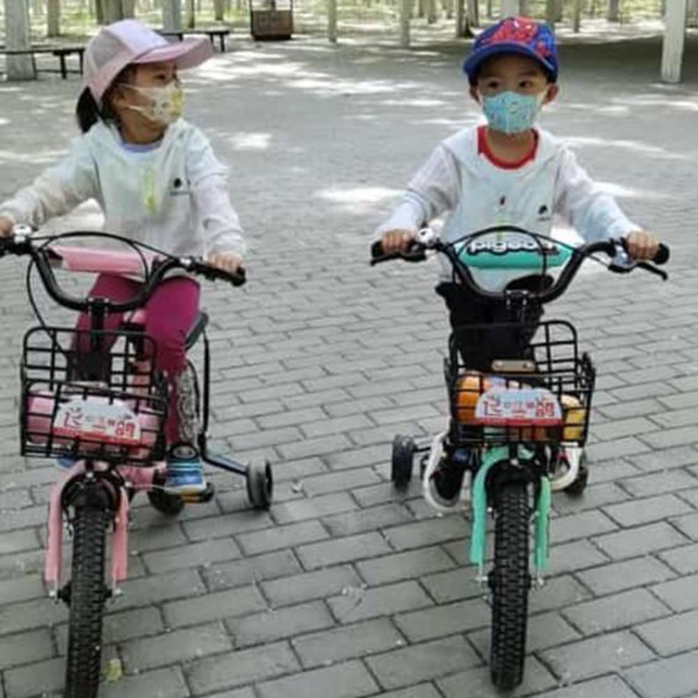 Masca faciala de protectie Roz pentru copii cu 3 straturi de protectie, set 50buc