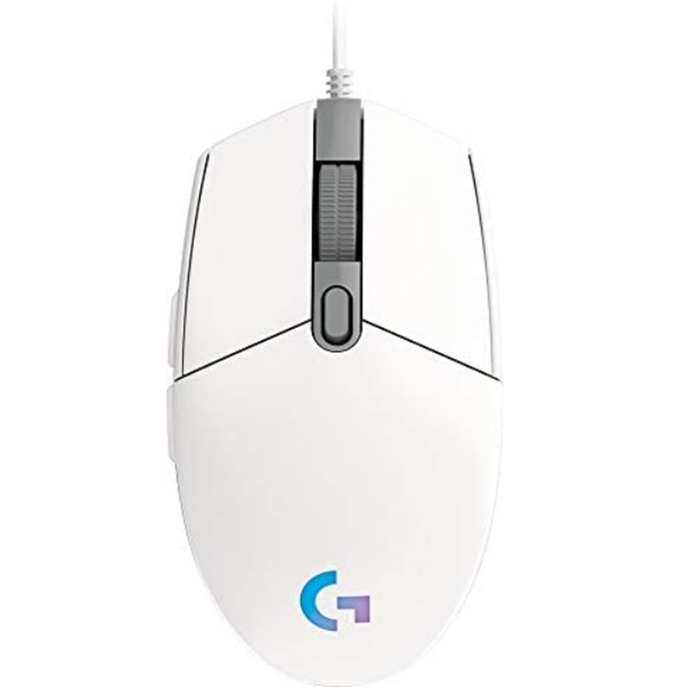 Mouse Cu Fir Gaming G102, Lightsync, 8.000 DPI, 6 Butoane Programabile, Functia Onboard Memory, Alb