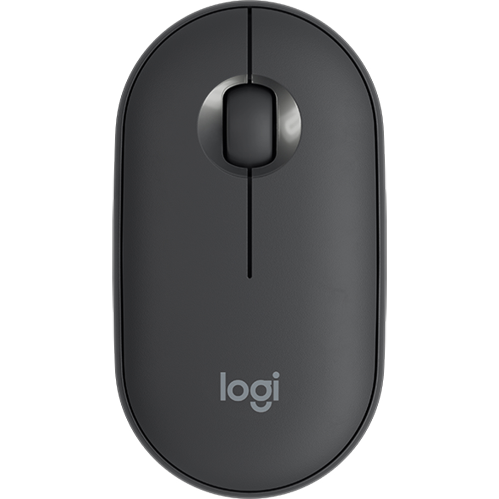 Mouse Wireless Bluetooth M350, 1.000 DPI, 3 Butoane, Receptor USB, Mod Repaus, Pebble Negru