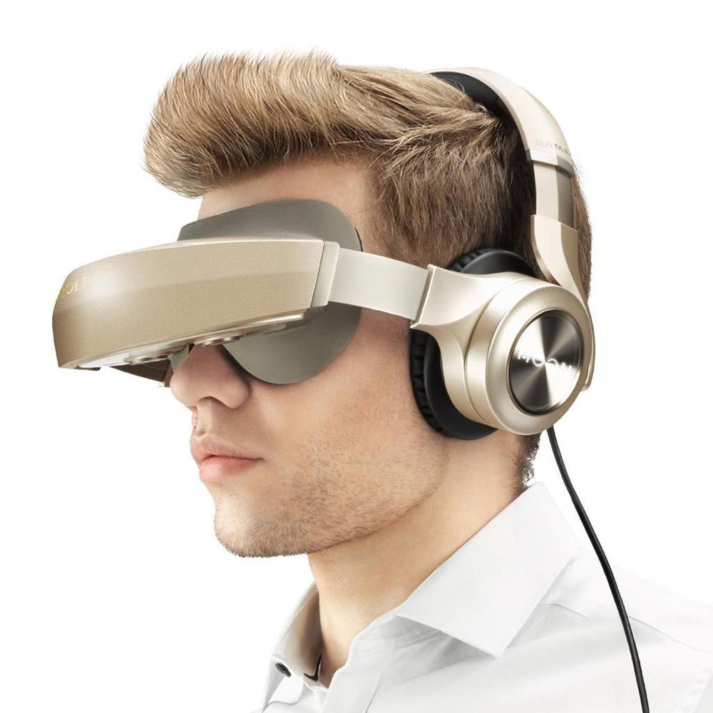 Ochelari inteligenti Moon Gold 3D Mobile Theatre Auriu