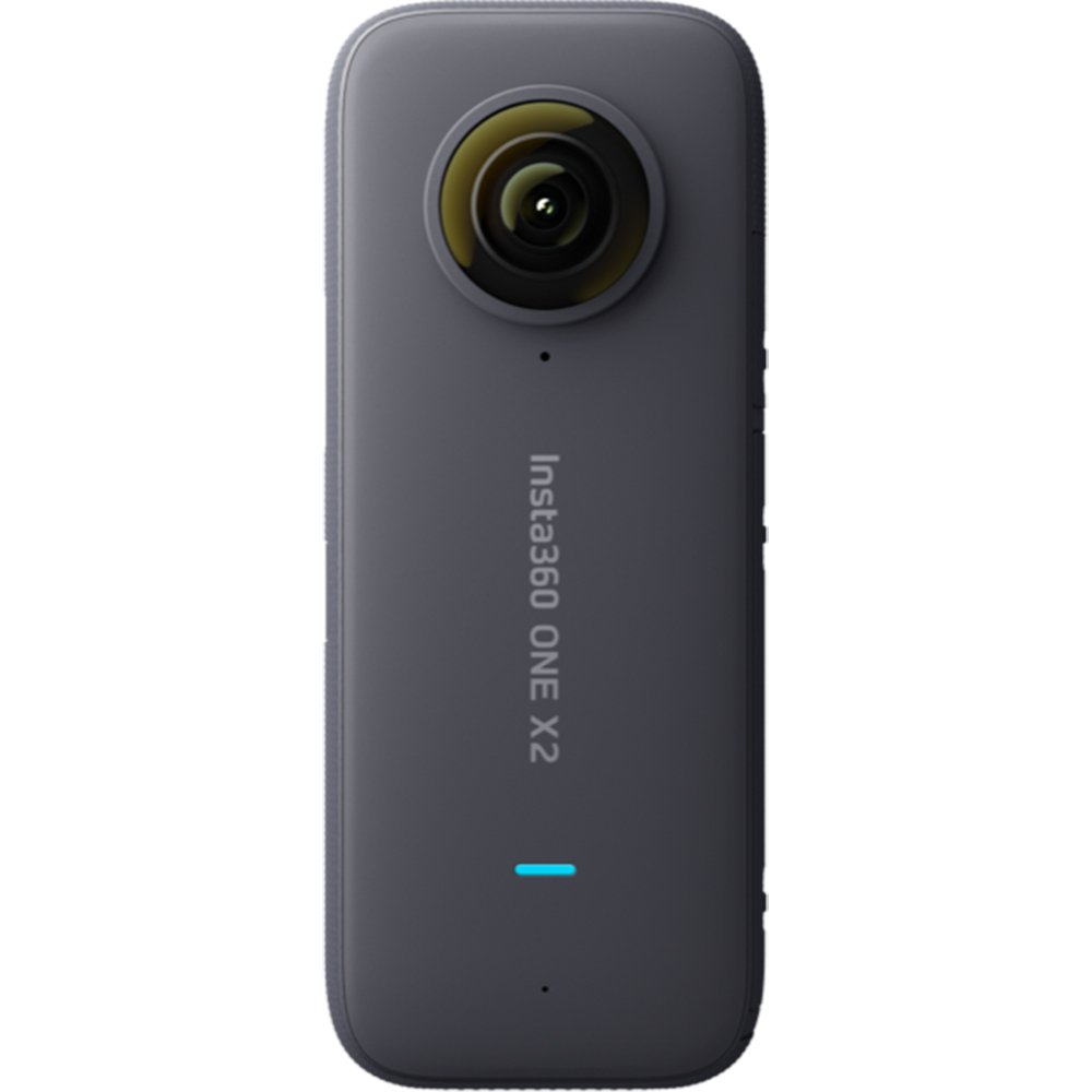 Camera One X2, 5.7K 360° Capture, Waterproof, 4-Mic 360° Audio, Control Vocal, Gri