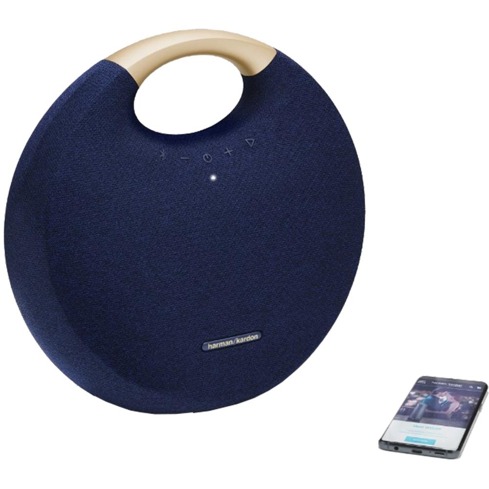 Boxa Portabila Wireless Bluetooth Onyx Studio 6, Conectare Multipla, Buton Control, Albastru