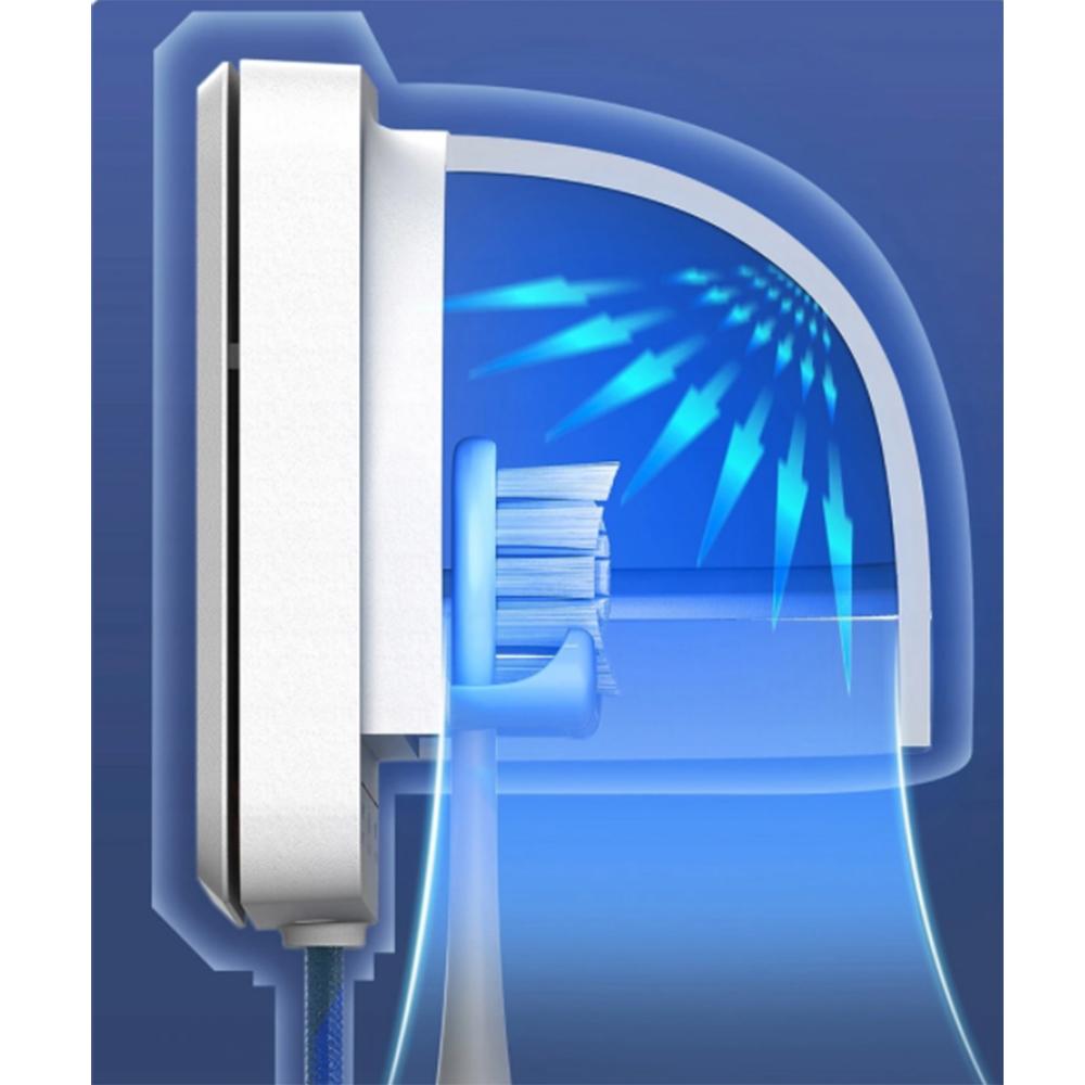 Sterilizator UVC S1 Pentru Periuta Electrica, Rata De Sterilizare 99.99%, Indicator Luminos Inteligent, 1000 mAh, Alb