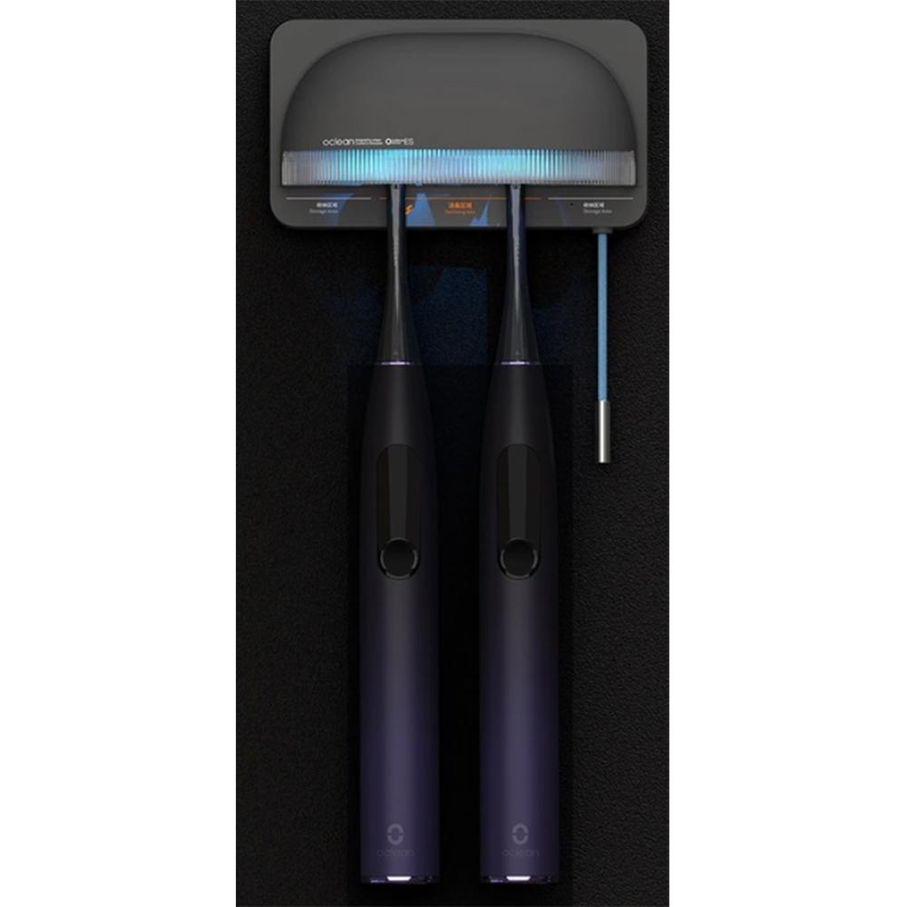 Sterilizator UVC S1 Pentru Periuta Electrica, Rata De Sterilizare 99.99%, Indicator Luminos Inteligent, 1000 mAh, Gri