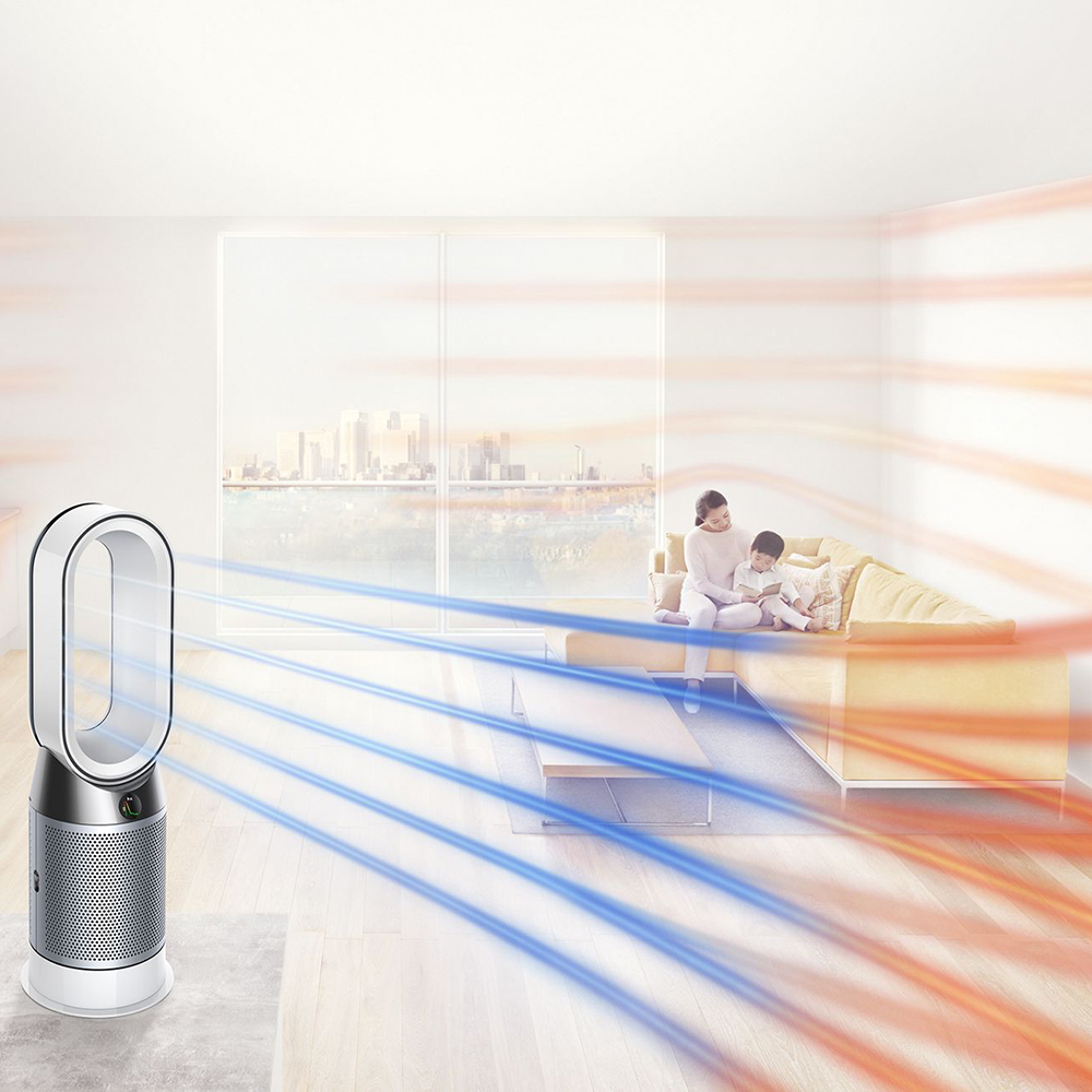 Pure Hot + Cool Link Ventilator Cu Efect De Purificare a Aerului Alb