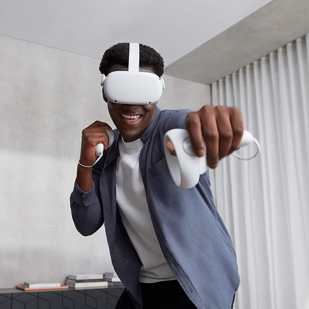 Quest 2 128GB Advanced All-in-one Virtual Reality Headset Alb