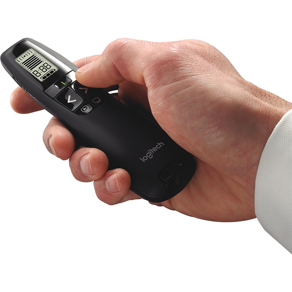 R800 Telecomanda Profesionala Tip Laser Pentru Prezentari, USB, Raza De Actiune 30m, Negru