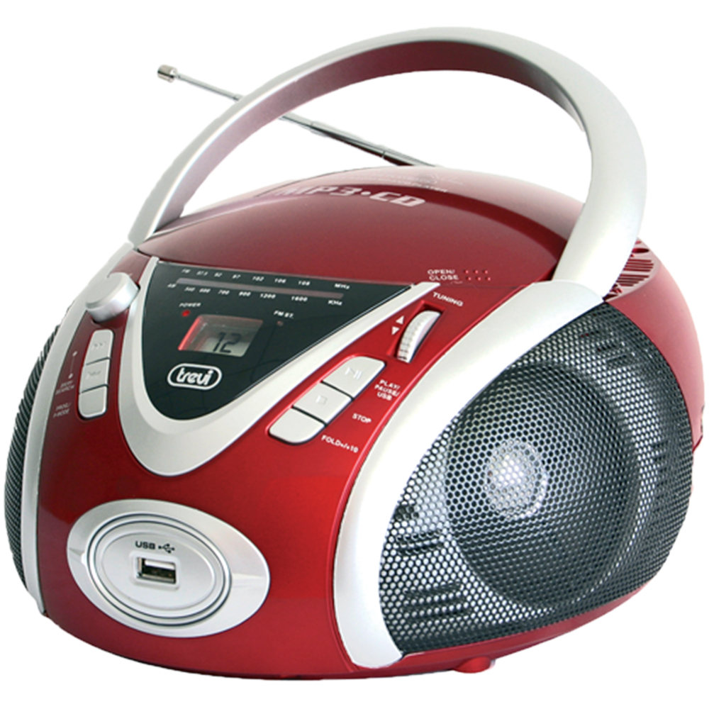 Radio Portabil CD/Mp3/Usb Rosu
