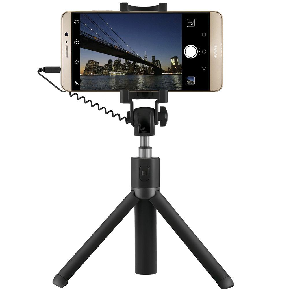 Selfiestick Tripod Cu Cablu Jack 3,5mm  Negru