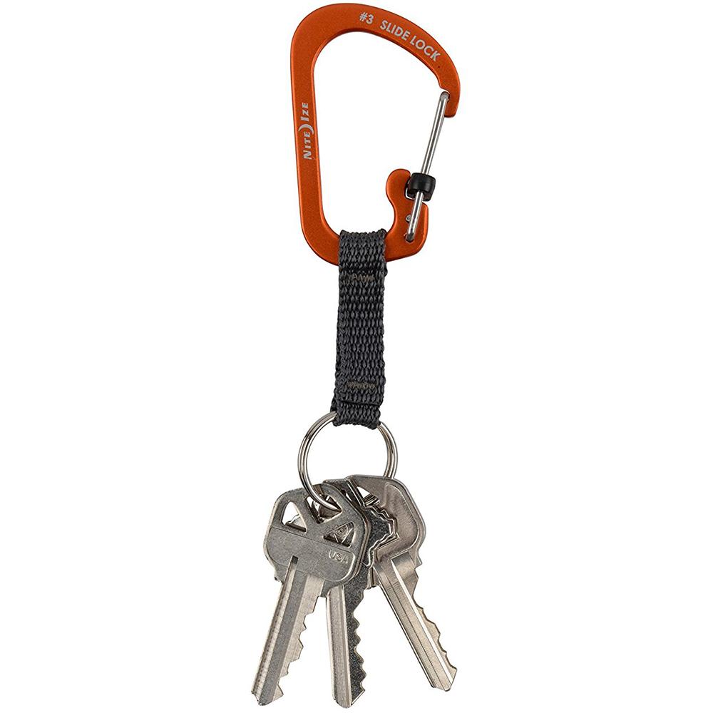 SlideLock Carabina Pentru Chei Aluminiu Portocaliu