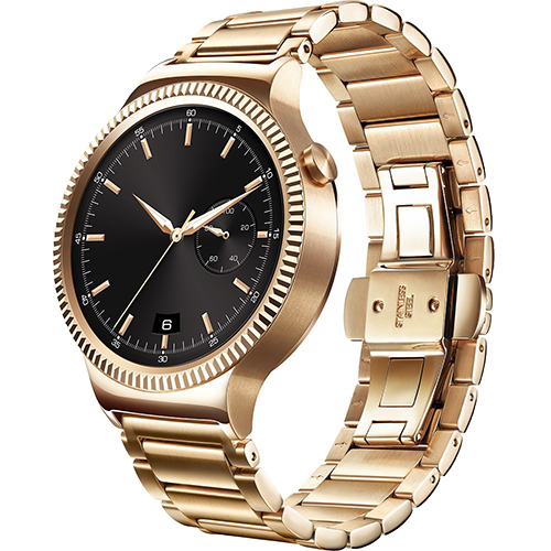 Smartwatch 42MM Otel Inoxidabil Auriu Si Curea Metal Auriu Link