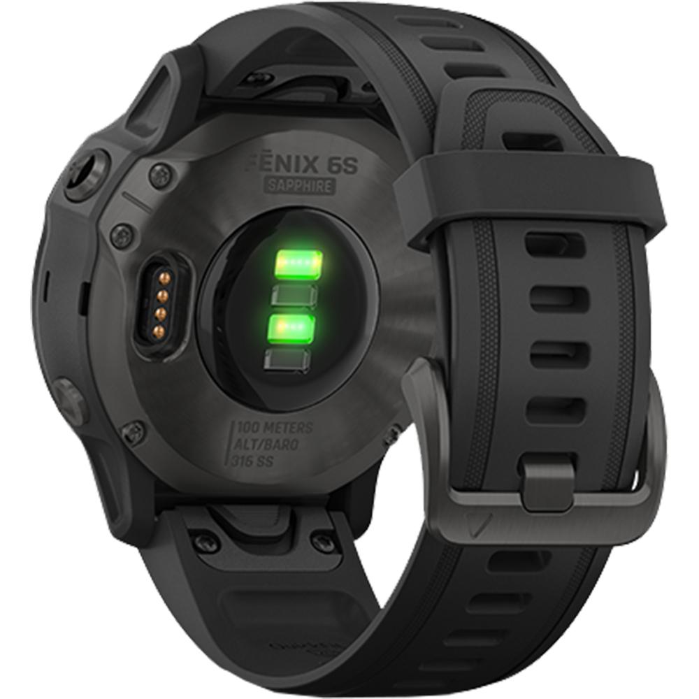 Smartwatch Fenix 6S Sapphire Carbon Gray Si Curea Neagra