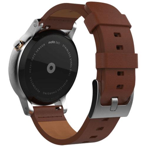 MOTOROLA Smartwatch Moto 360 42 MM 2nd Gen Men's Otel Inoxidabil Argintiu Si Curea Piele Maro 00817