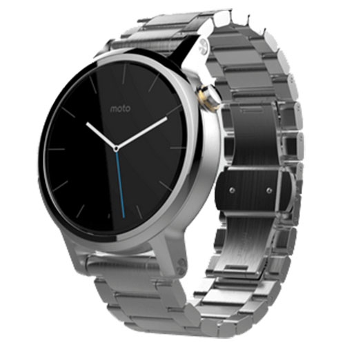 Smartwatch Moto 360 42 MM 2nd Gen Men's Otel Inoxidabil Argintiu Si Curea Metalica Argintie