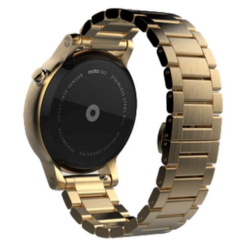 Smartwatch Moto 360 42 MM 2nd Gen Men's Otel Inoxidabil Auriu Si Curea Metalica Aurie