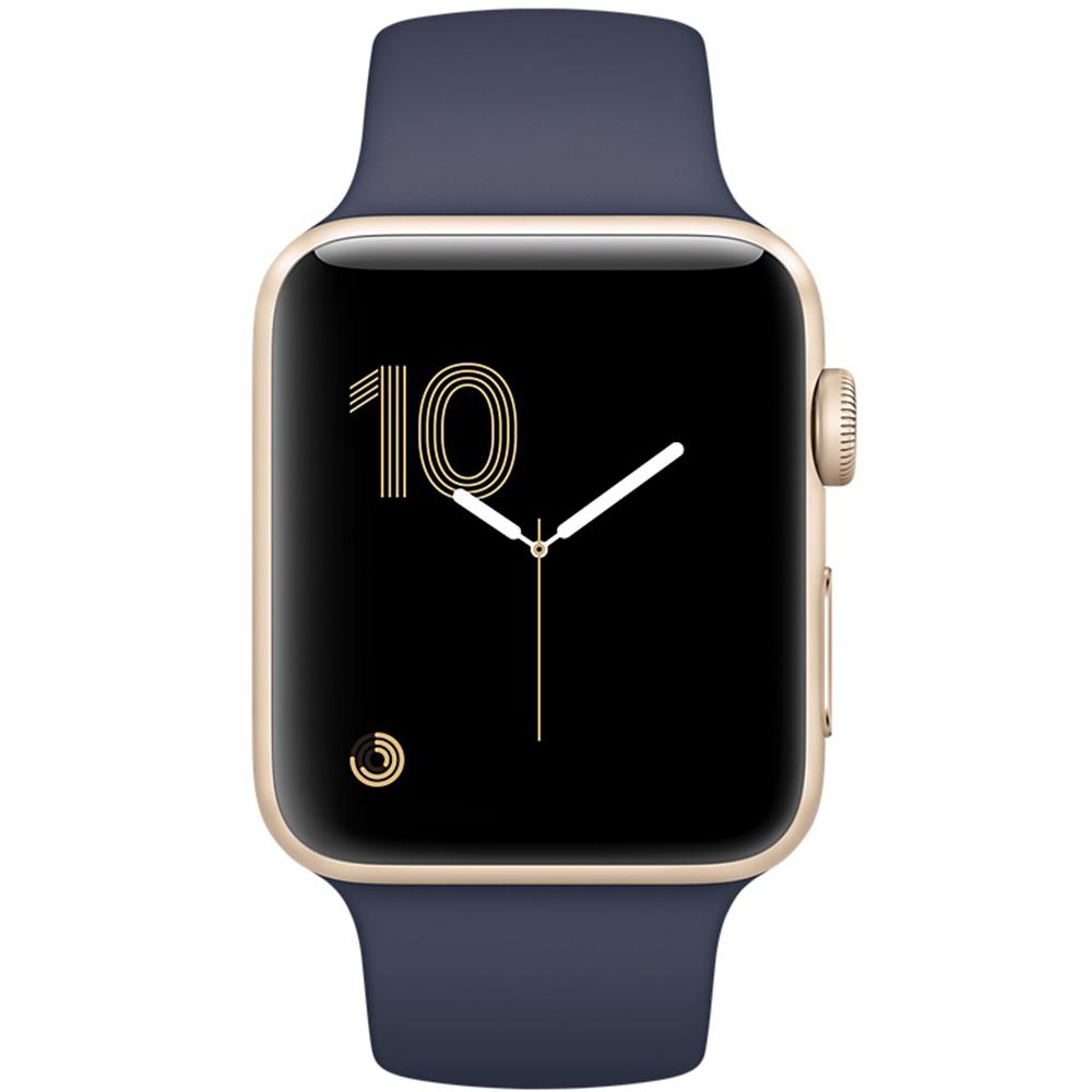 Smartwatch Series 2 Aluminiu Auriu Si Curea Sport 42mm Albastra