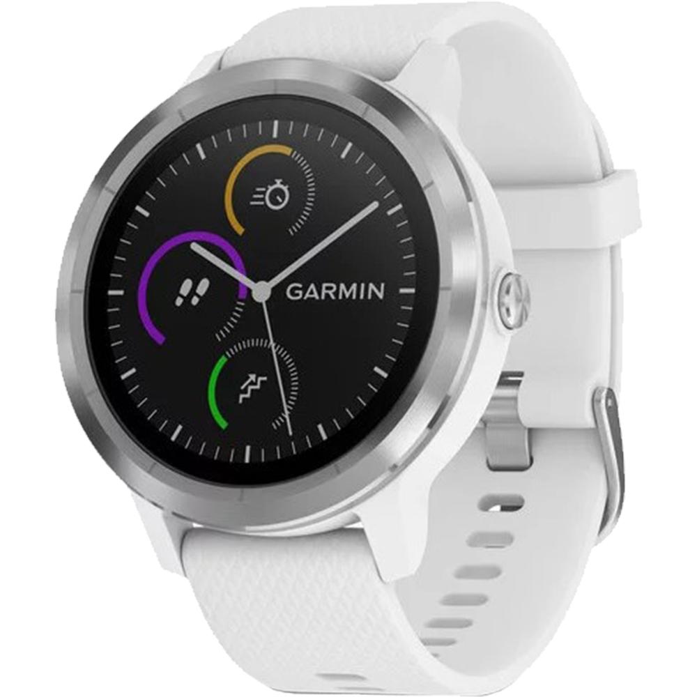 Smartwatch Vivoactive 3 Otel Inoxidabil Si Curea Silicon Alb
