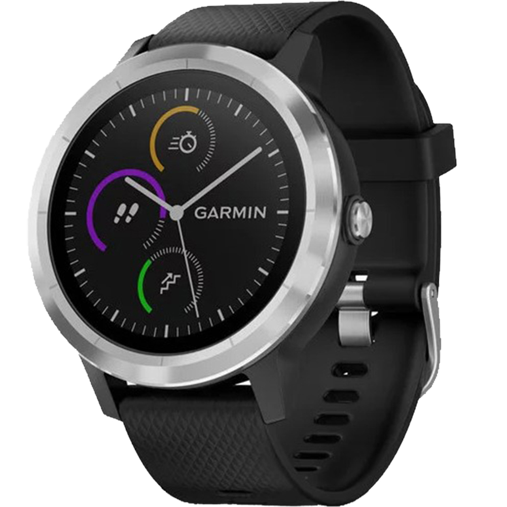 Smartwatch Vivoactive 3 Otel Inoxidabil Si Curea Silicon Negru