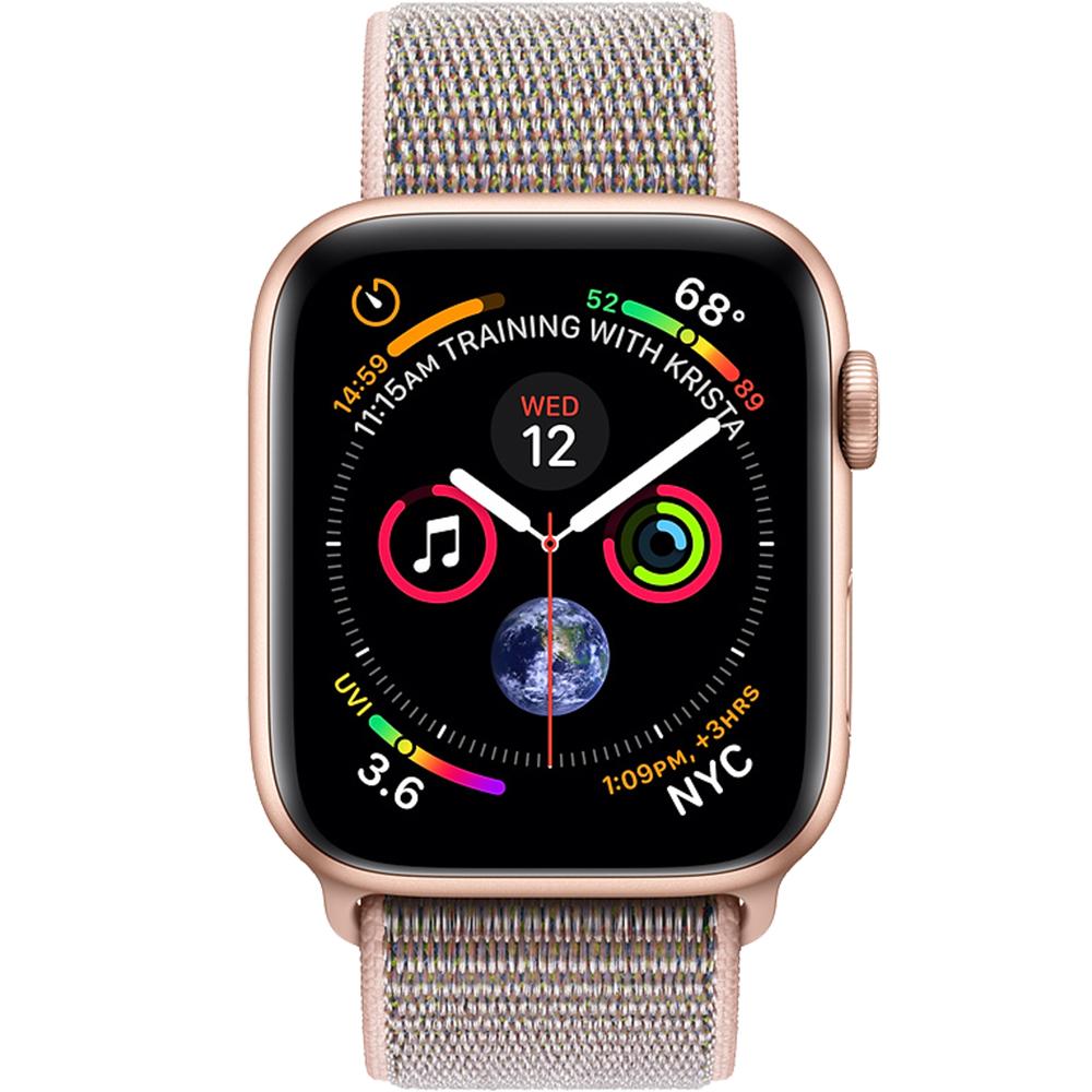 Smartwatch Watch 4 GPS 40MM Aluminiu Auriu Si Curea Loop Roz