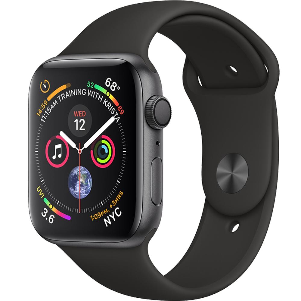 Smartwatch Watch 4 GPS 40MM Aluminiu Negru Si Curea Sport Negru