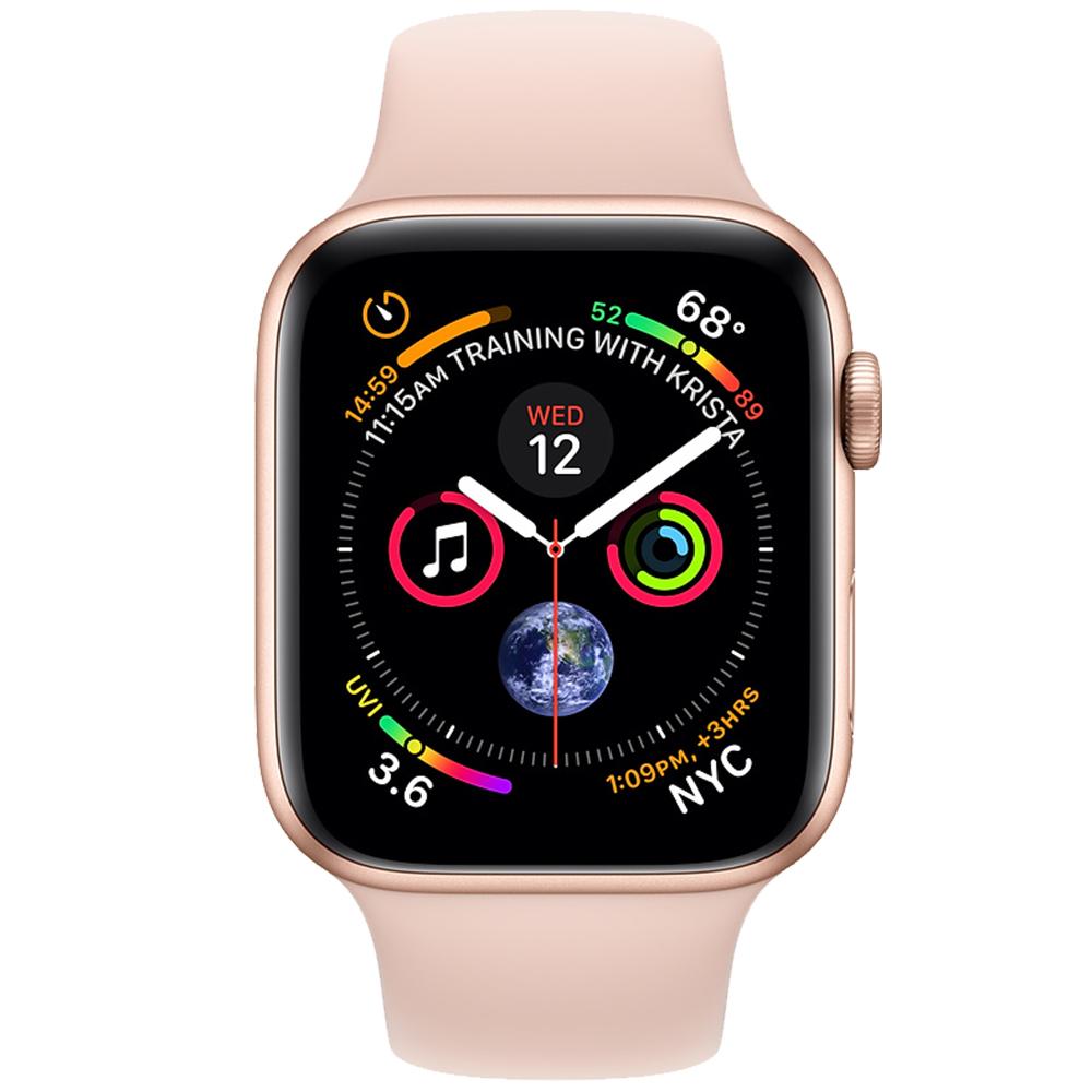 Smartwatch Watch 4 GPS 44MM Aluminiu Auriu Si Curea Sport Roz