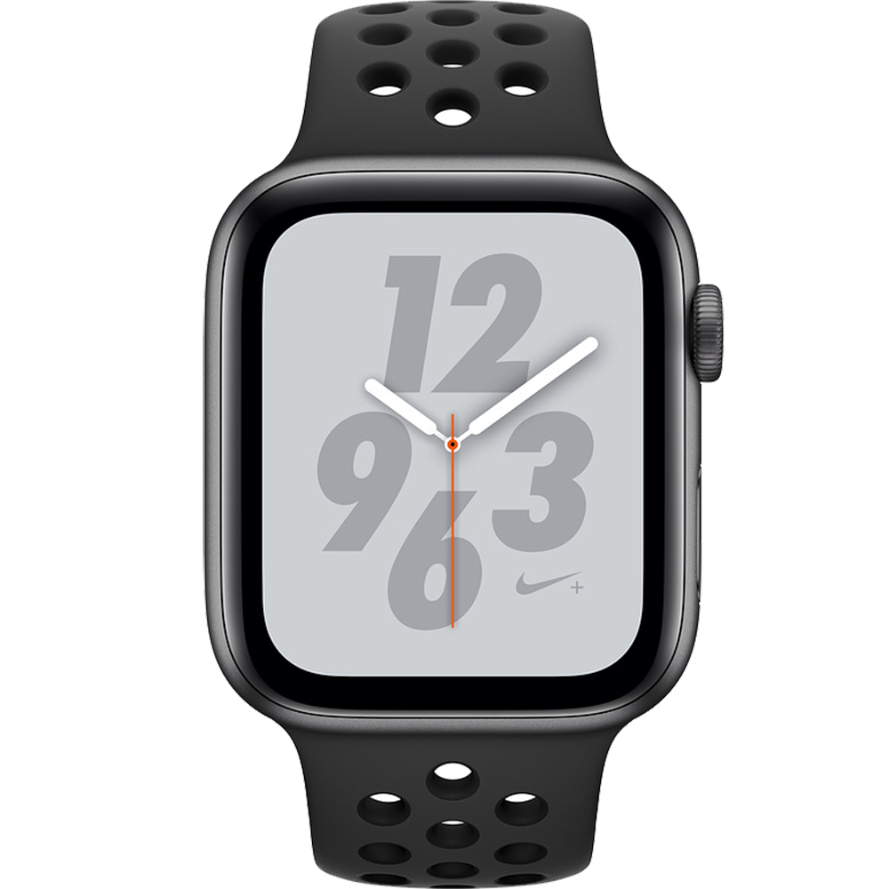 Smartwatch Watch 4 Nike Plus GPS 44MM Aluminiu Negru Si Curea Sport Antracit Negru