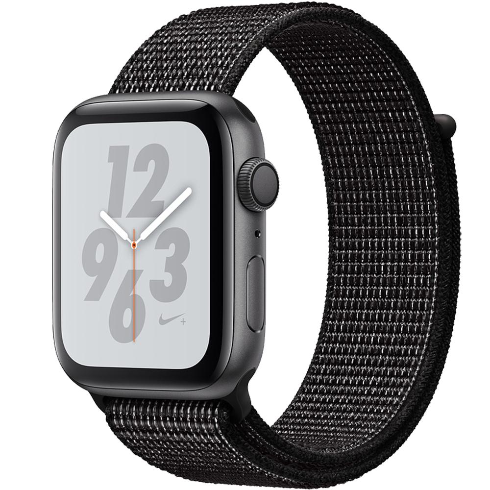 Smartwatch Watch 4 Nike Plus GPS 44MM Aluminiu Negru Si Curea Sport Loop Negru