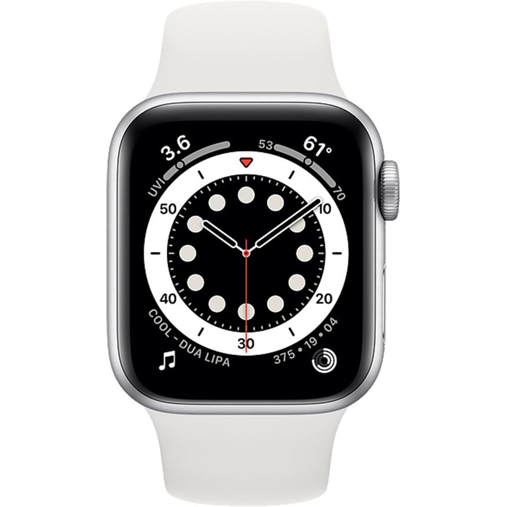 Smartwatch Watch 6 40mm Aluminiu Argintiu Si Curea Sport Alb