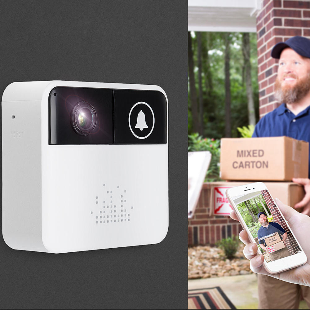 Sonerie Inteligenta Wireless Cu Camera Video HD Si Microfon CAM-002 Alb