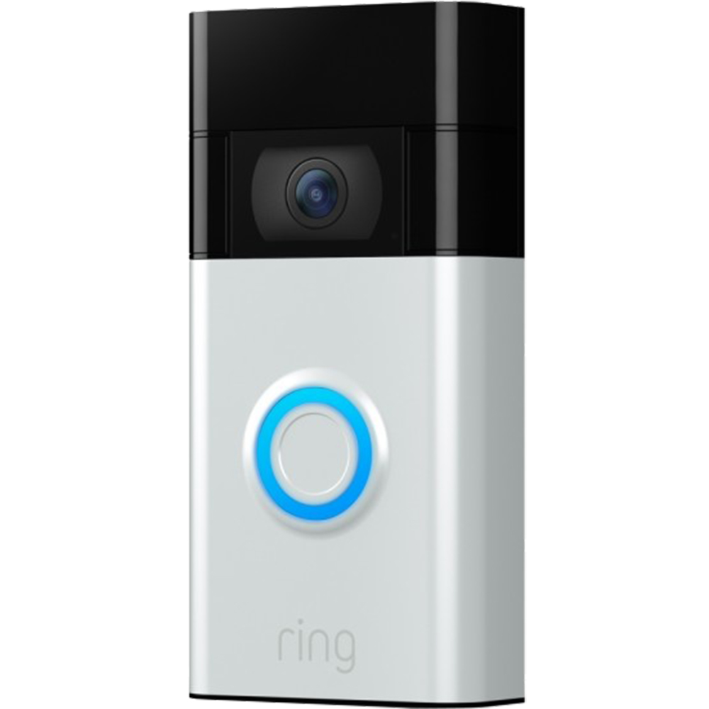 Sonerie Video Doorbell (2nd Gen), HD 1080p, Sunet Bidirectional, Vedere Nocturna, Satin Nicke Argintiu
