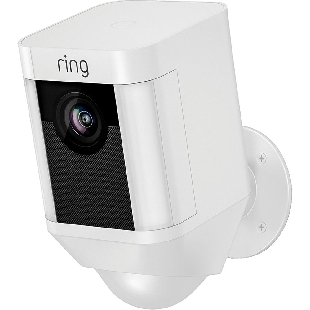 Spotlight Cam 1080p Outdoor Wi-Fi Camera With Night Vision, 110 Decibeli, Rezistenta La Apa Si Praf, Vedere Nocturna, Alb