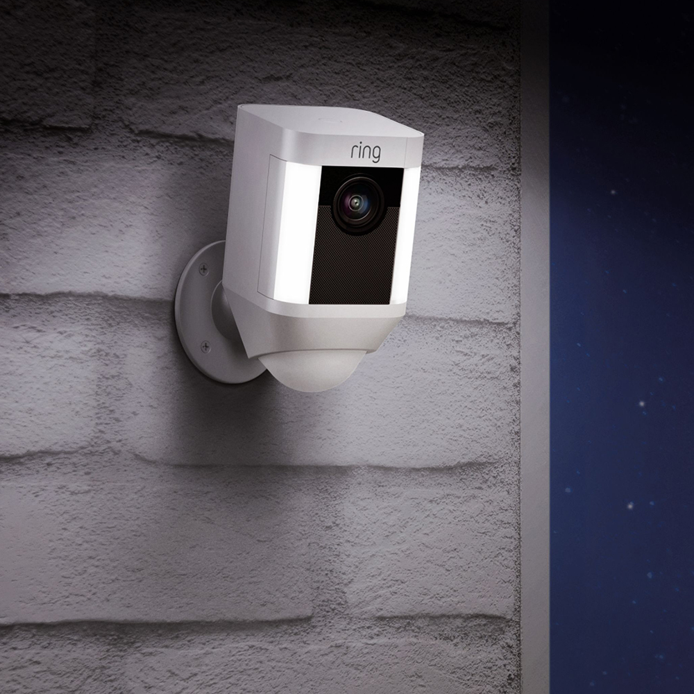 Spotlight Cam 1080p Outdoor Wi-Fi Camera With Night Vision Alb