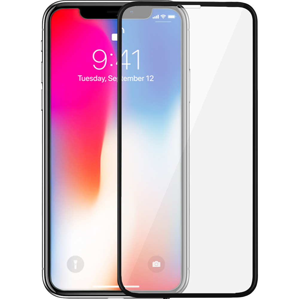 Sticla Securizata Full Body 3D Curved Fata Spate Alb APPLE iPhone X, iPhone Xs