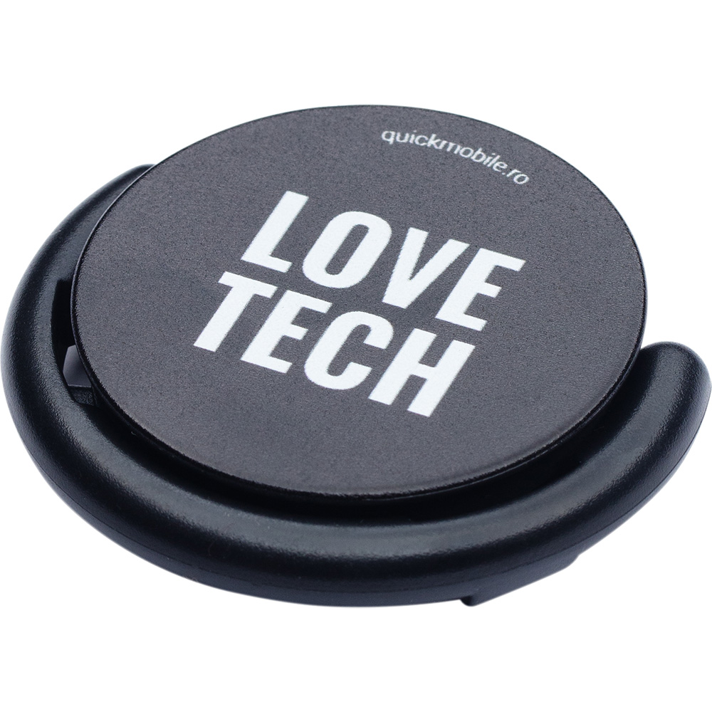 Suport stand smartphone Popsocket Love Tech Negru