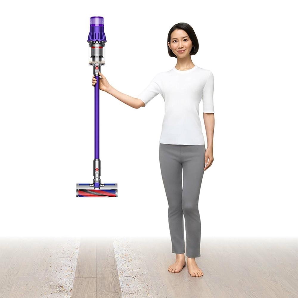 Aspirator Fara Fir Digital Slim Fluffy Extra (SV18), Capacitate 0.3L, 11 Cicloni, 100AW, Purple/Iron