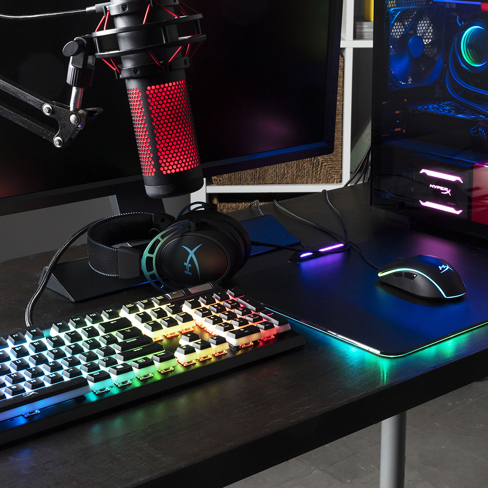 Tastatura Mecanica Gaming Cu Cablu Alloy ELITE 2, HyperX Red Mechanical Switches, RGB Illuminated, N-Key Mode, Anti-Ghosting, USB 2.0 Pass-through
