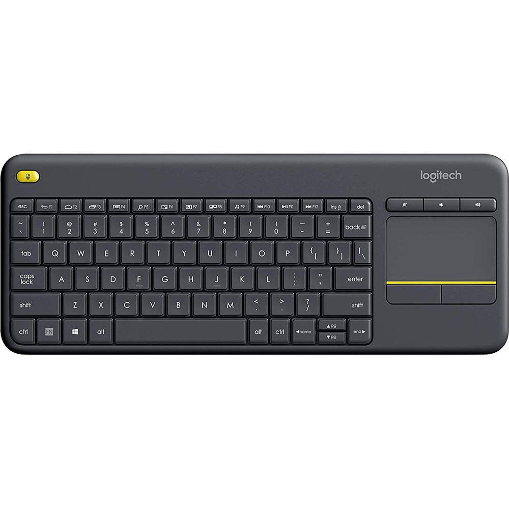 Tastatura Wireless K400 Plus Touch TV  Negru